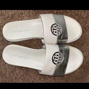Tommy Hilfiger White Slides